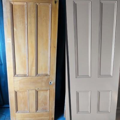 old and new villa doors